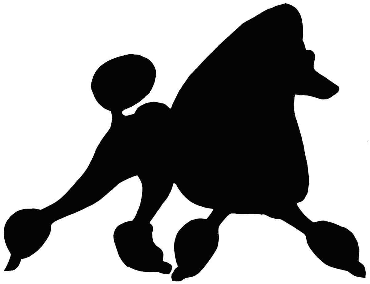1202x925 Poodle Outline Vector Poodle Silhouette Outline For Skirt Free