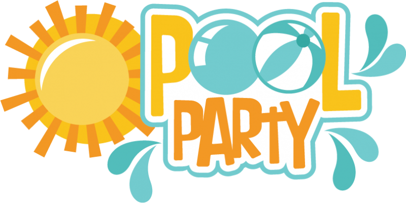 800x400 Pool Party Svg Scrapbook Title Pool Svg Cut Files Pool Party Svg