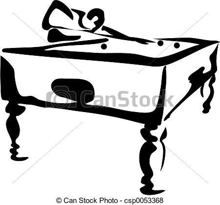 450x419 Pool Player. Playing Pool Stock Illustration