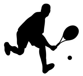 320x294 Tennis Player Silhouette 2 Decal Sticker