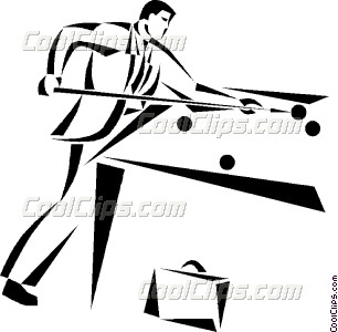 306x300 Businessman Playing Pool Vector Clip Art