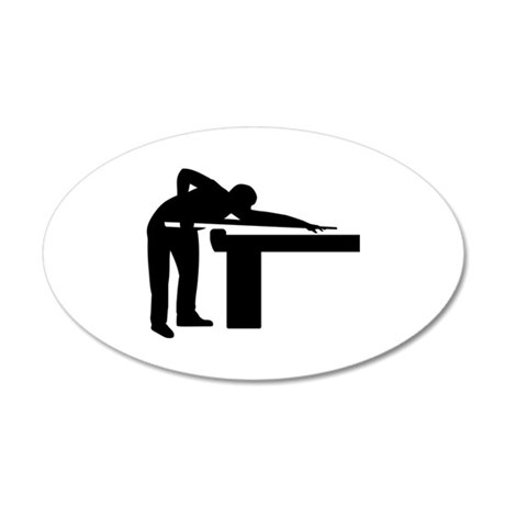 460x460 Billiards Player Pool Table Wall Sticker By Giftuniverse