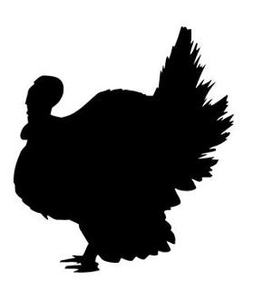 279x330 Turkey Silhouette Decal Sticker