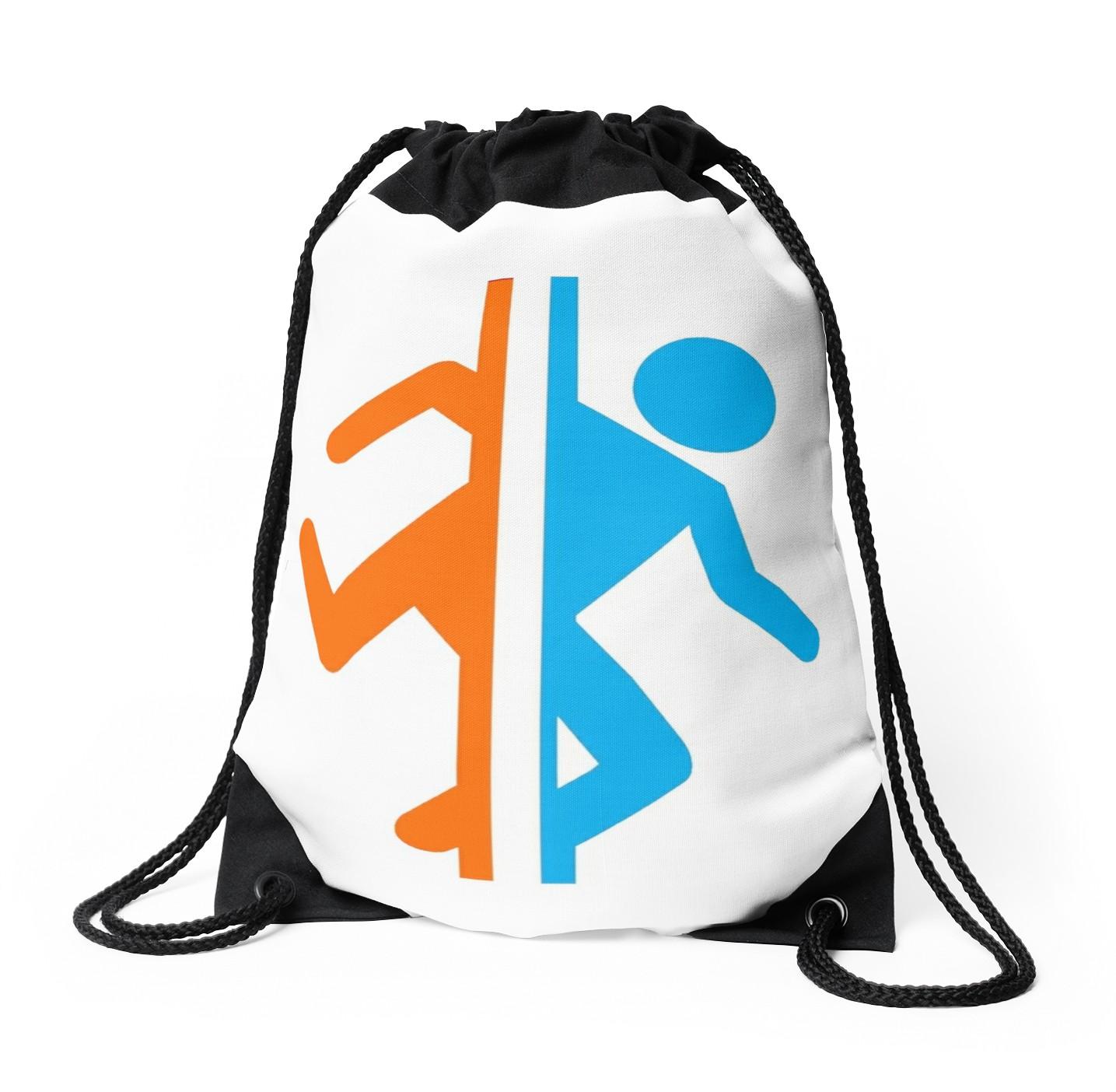 1435x1404 Portal Silhouette Drawstring Bags By Redbubble