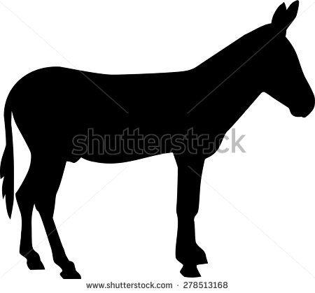 450x419 Donkey Silhouette Mule Drawing Ideas Donkey