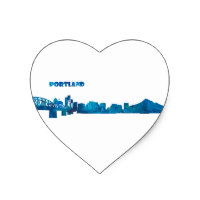 200x200 Silhouette Skyline Stickers Zazzle