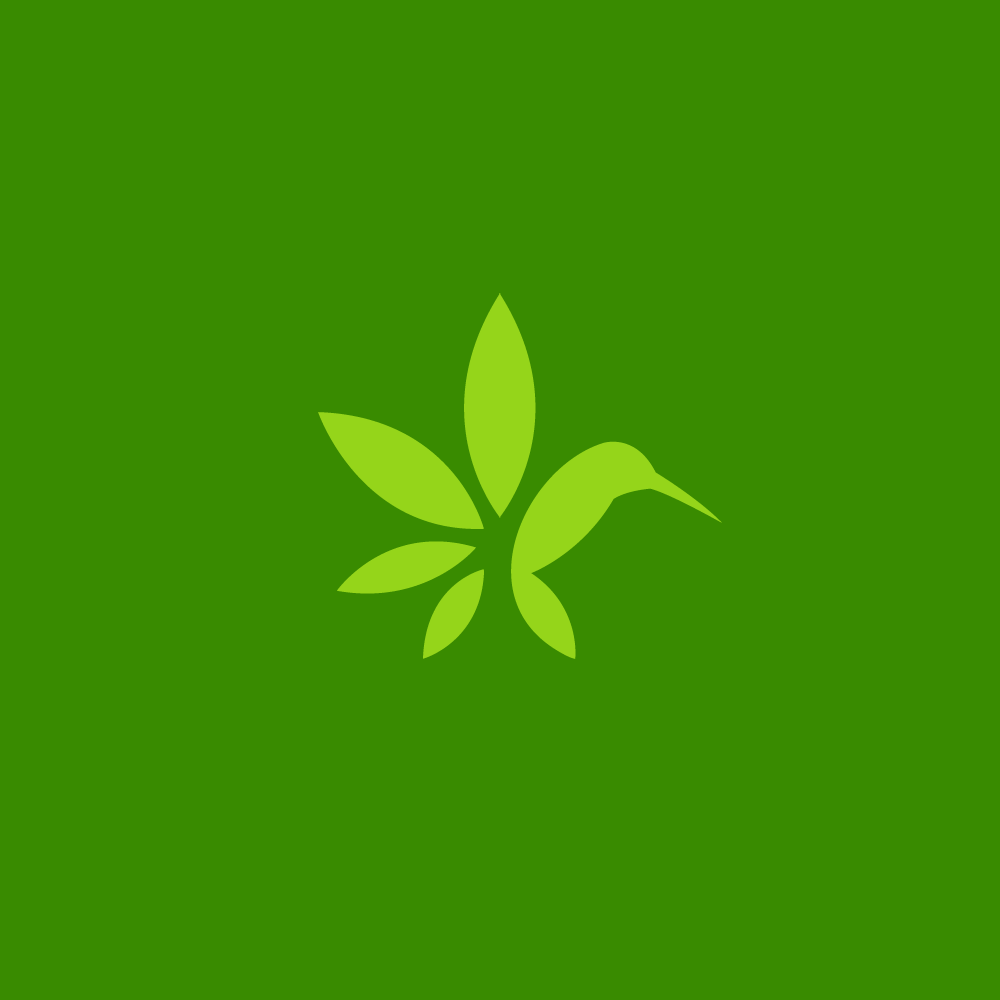 1000x1000 Sold Jugo Hemp Juice Marijuana Leaf Hummingbird Logo Logo Cowboy