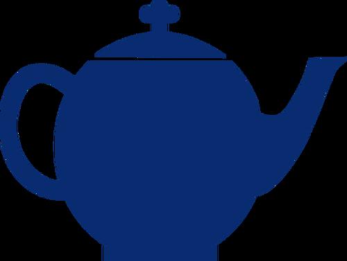 500x377 Blue Silhouette Vector Image Of Tea Pot Public Domain Vectors