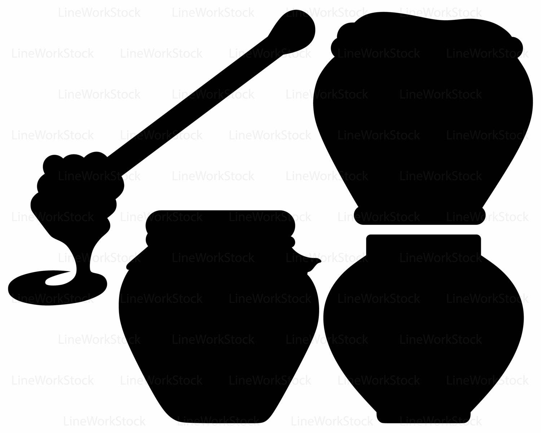 1500x1200 Wooden Honey Pot Svghoney Cliparthoney Svgsilhouettefood