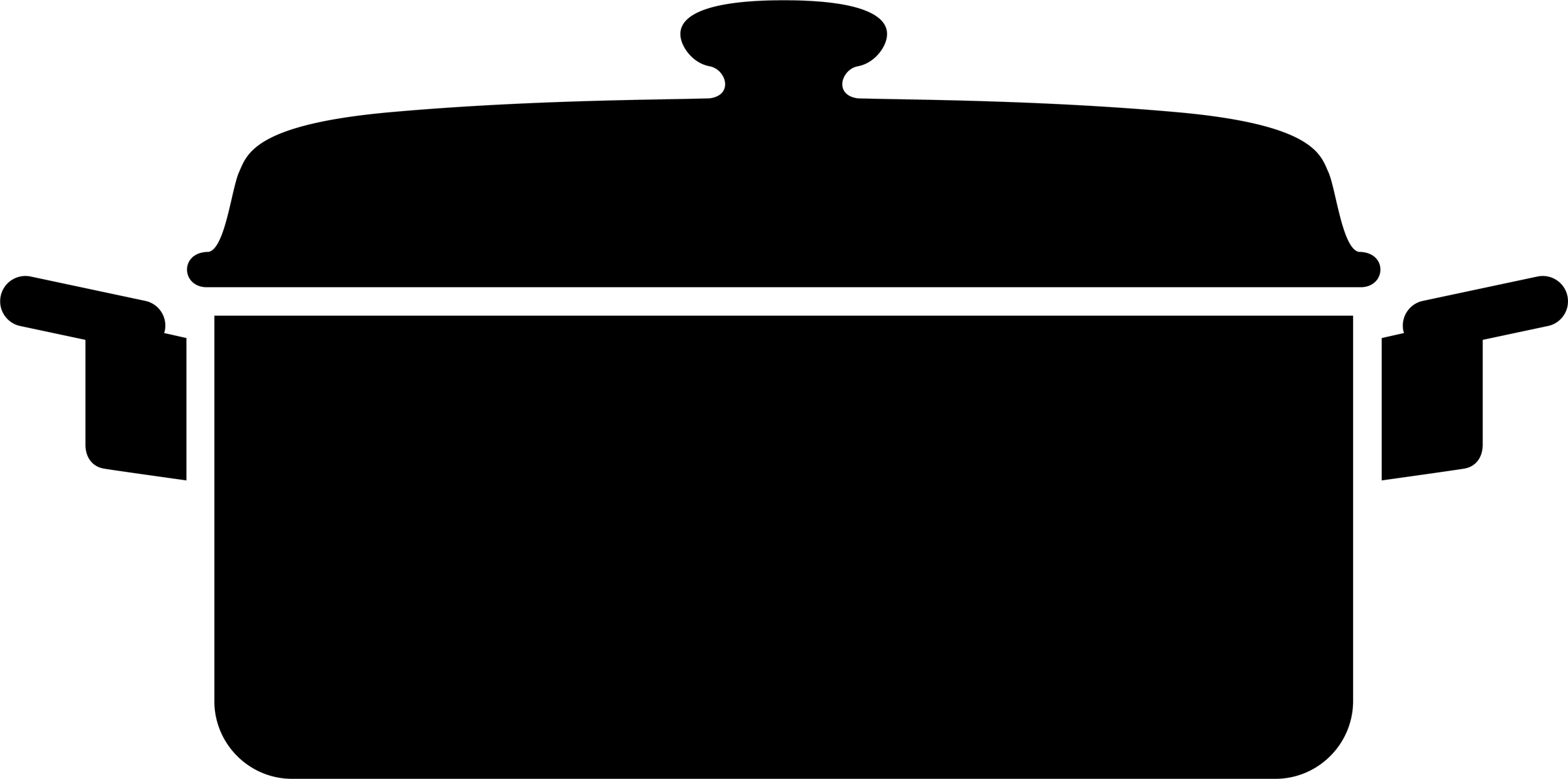 2400x1192 Silhouette Clipart Black And White