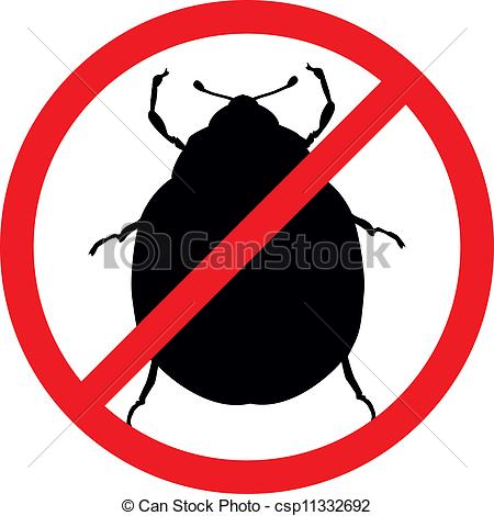 450x470 Stop Pests. Potato Beetle Vector Silhouettes Isolated . Eps