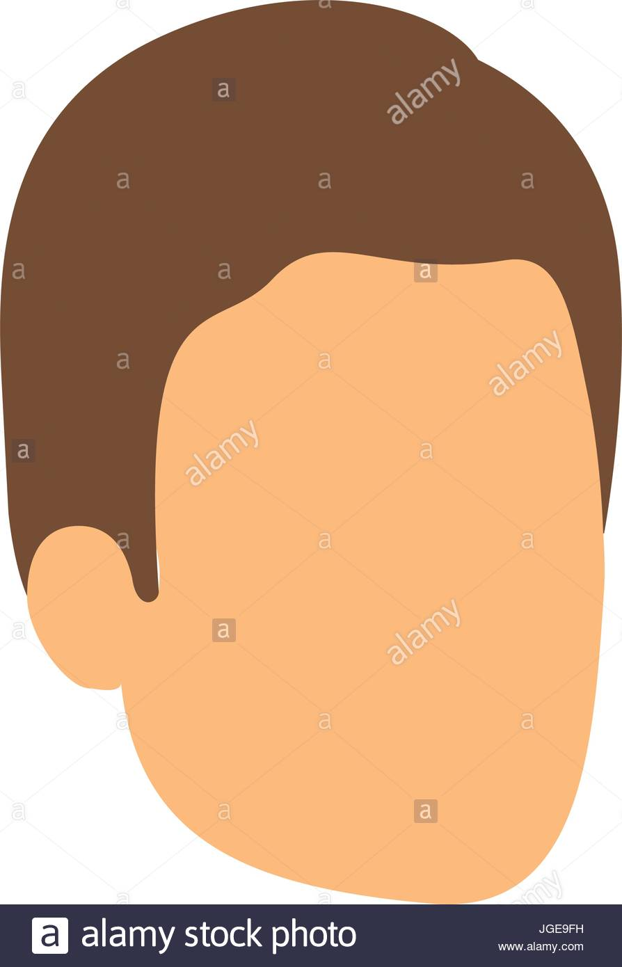 894x1390 Colorful Silhouette Of Man Faceless With Brown Hair Stock Vector