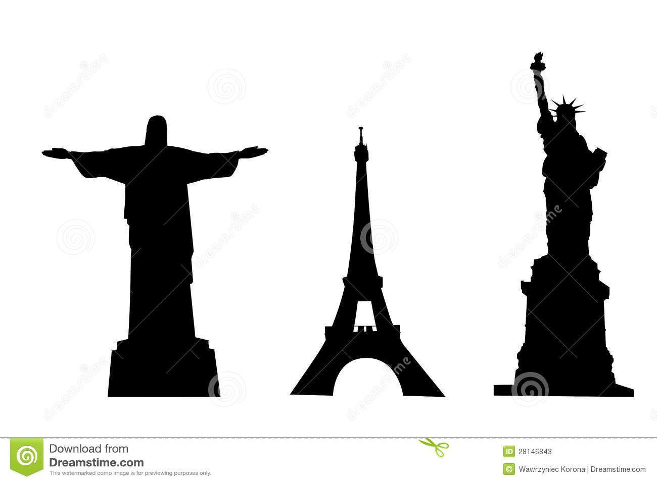 1300x957 Siluetas De Monumentos Famosos