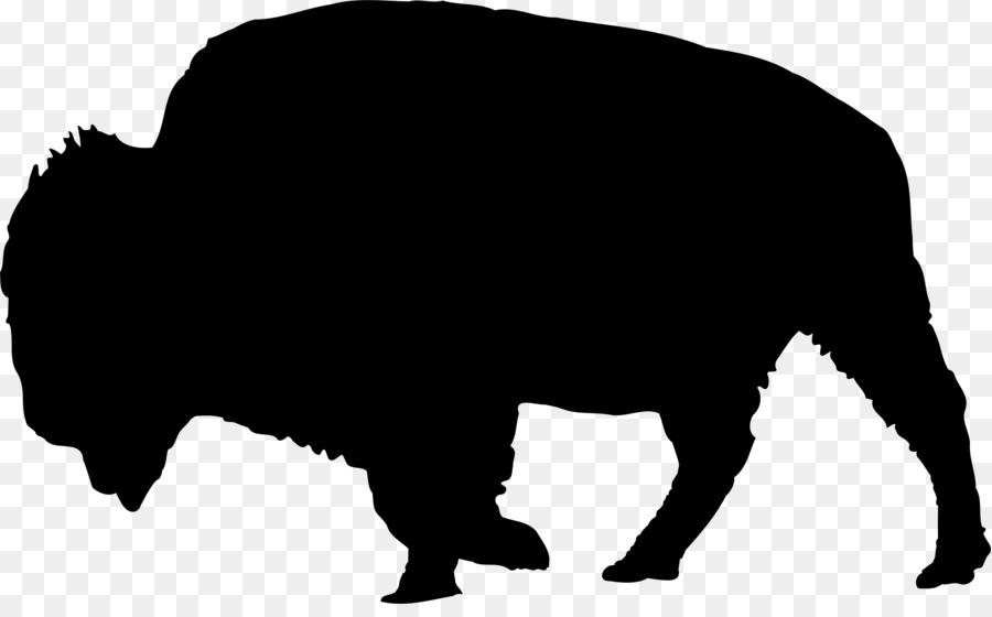 900x560 American Bison Silhouette Clip Art