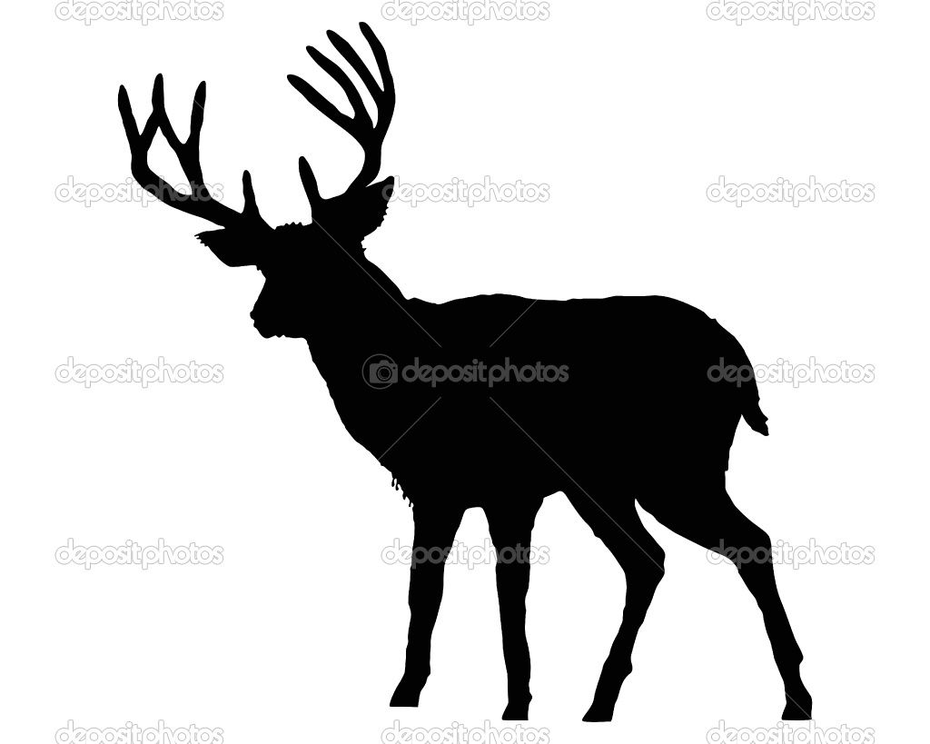 1024x819 Dep 1315032 The Black Silhouette Of A Deer On White.jpg