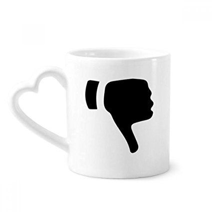 425x425 Ridicule Gesture Silhouette Pattern Coffee Mugs