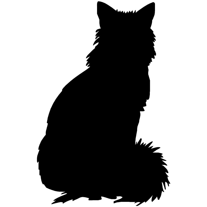 Pouncing Cat Silhouette