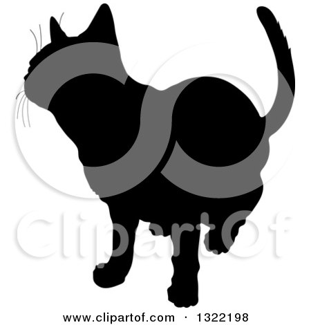 450x470 Royalty Free (Rf) Clipart Of Cat Silhouettes, Illustrations