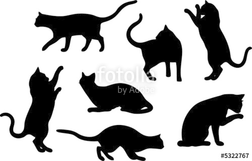 500x319 Set Of Cat Silhouette Designs Stock Photo And Royalty Free Images