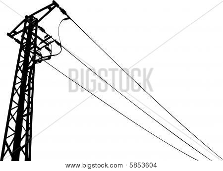 Power Lines Silhouette