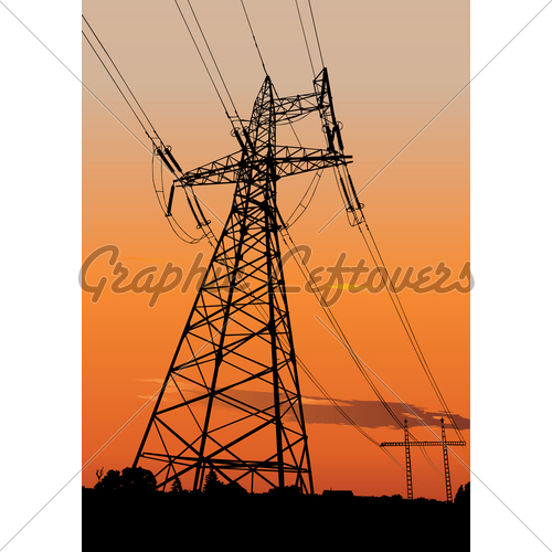 500x500 Power Lines And Electric Pylons Gl Stock Images