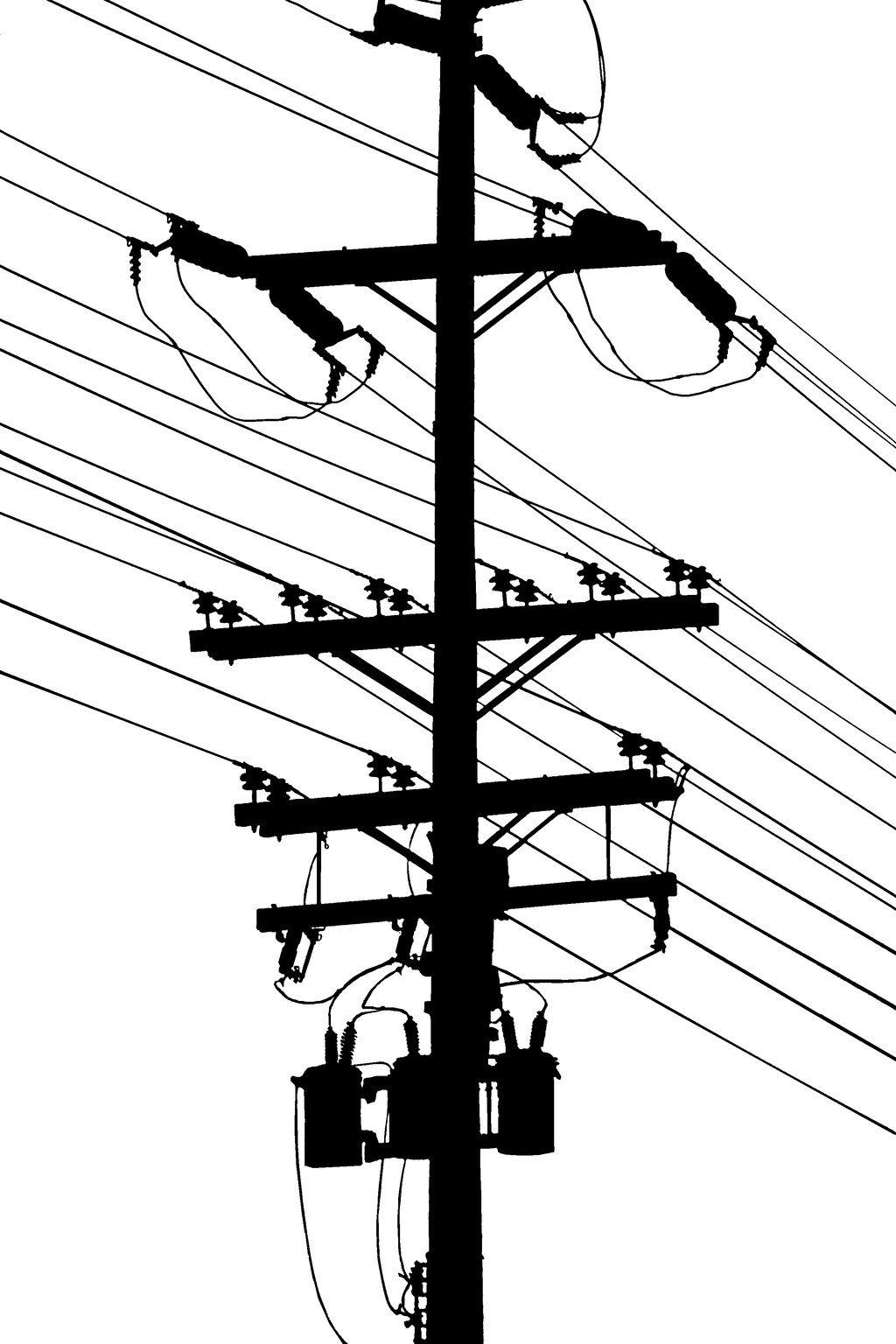 1024x1536 Power Pole Silhouette By Robert Kim Karen