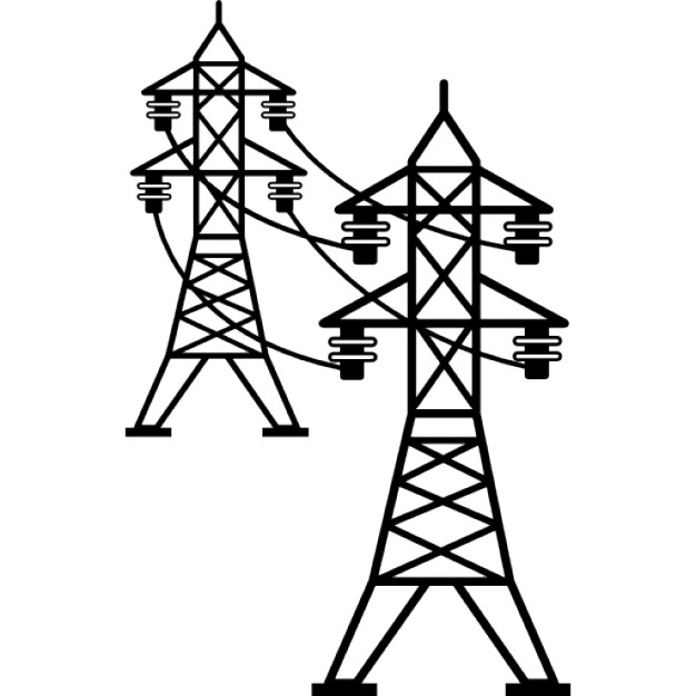 626x626 Power Line Connected Towers Icons Free Download