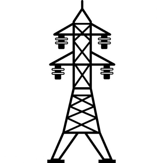 626x626 Power Line With Four Insulators Icons Free Download