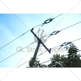 325x325 Two High Tension Power Line Towers Against Blue Sky Gl Stock Images