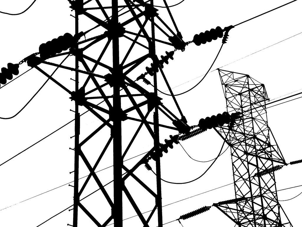 1024x768 Silhouette Medellin Power Lines Trevor Schwellnus