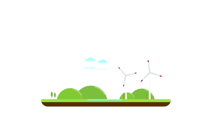 852x480 Loading Bar Concept Green Trees Give Way To Black Industrial