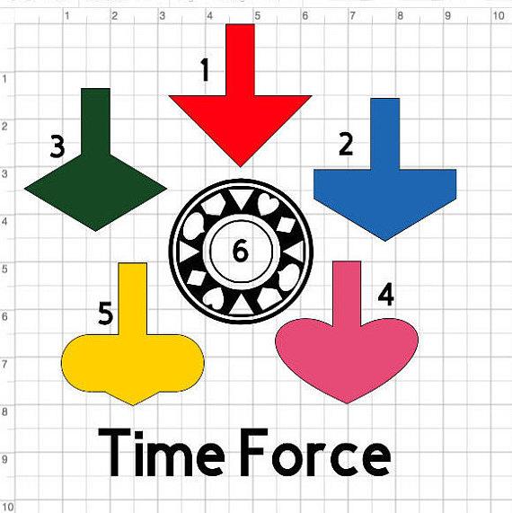 570x571 Power Rangers 08 Inspired Time Force Helmet Visor Silhouette