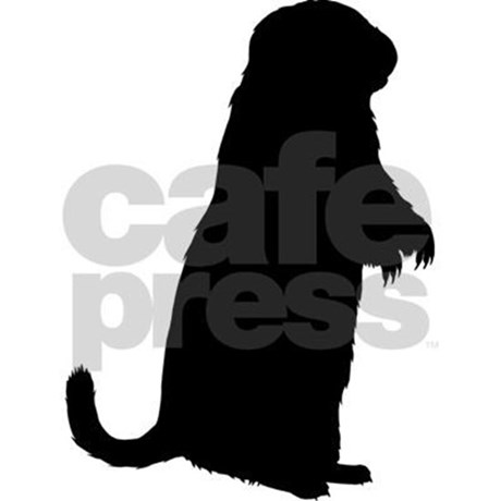 460x460 Prairie Dog (Silhouette) Oval Decal By Bluegreenred