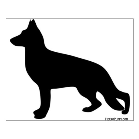460x460 Dog Silhouette Posters