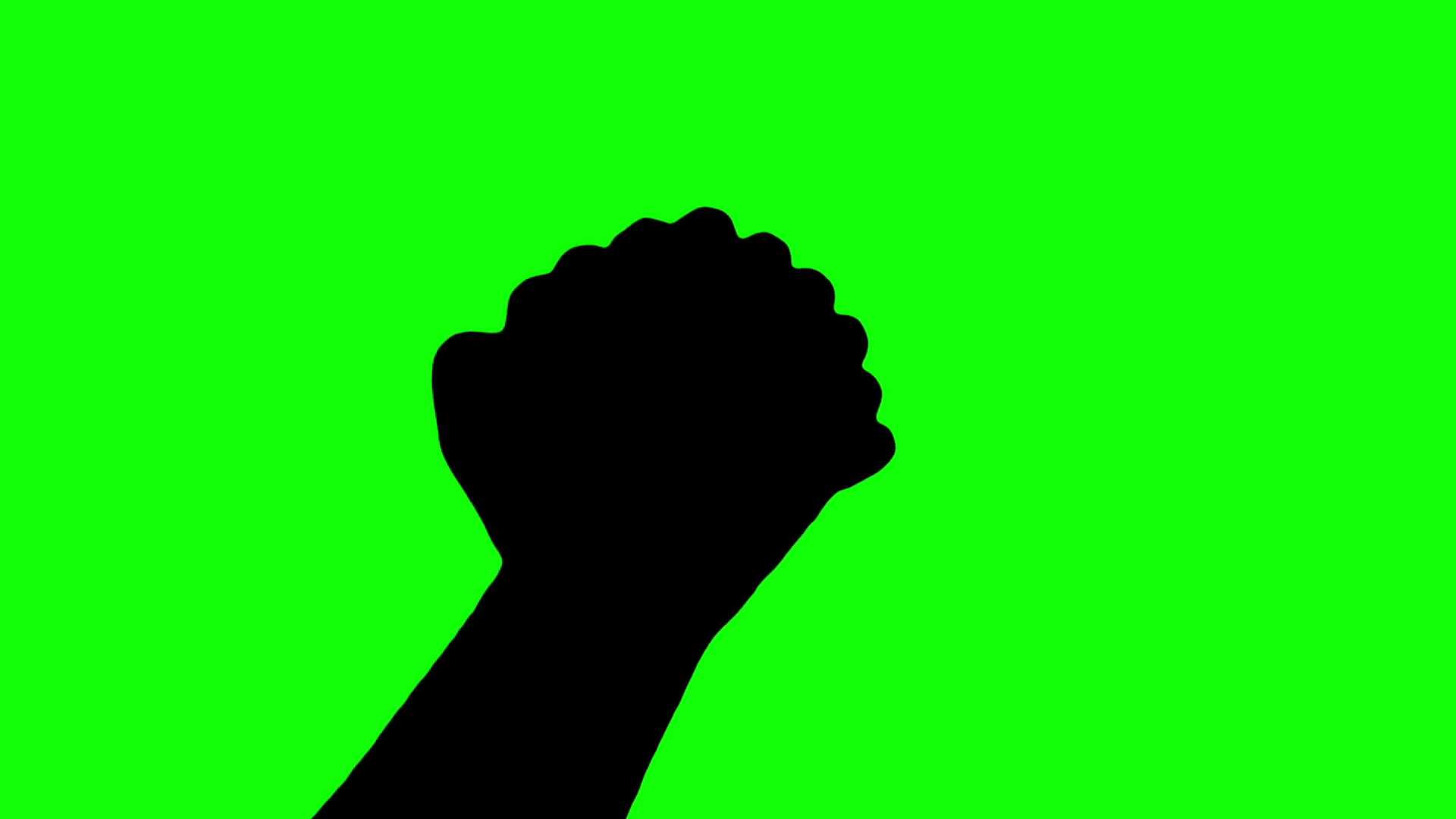 1920x1080 Praying Hands silhouette isolated green screen Stock Video Footage