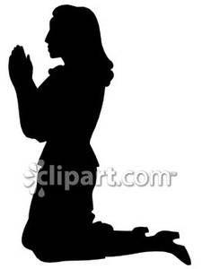 225x300 Women In Prayer Clip Art Silhouette of a Woman Praying