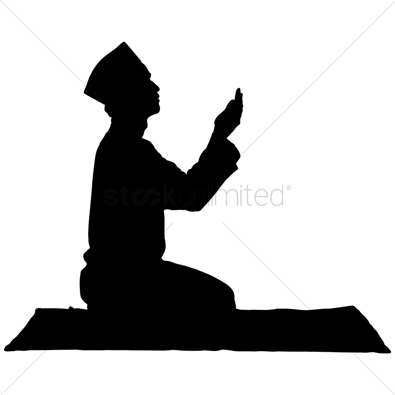 Prayer Hands Silhouette