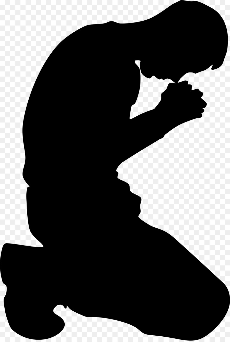 900x1340 Praying Hands Kneeling Silhouette Clip Art