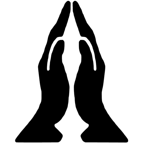 460x460 Praying Hands Tattoo Wall Fabric Graphics
