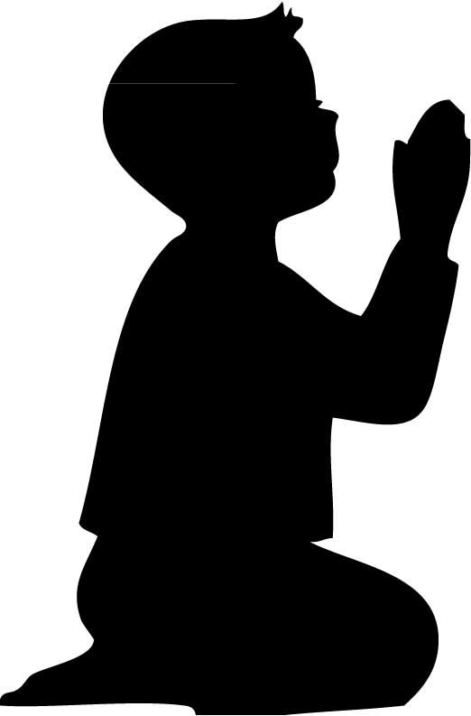 Praying Child Silhouette