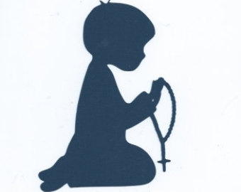 340x270 Child Praying Silhouette Clipart