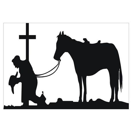 460x460 Cowboy Praying Wall Art
