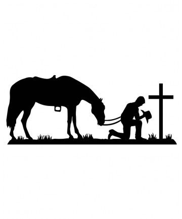 360x434 Praying Cowboy Wall Decal Juan's Room Wall Decals