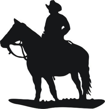349x360 Cowboy Clipart Silhouette Many Interesting Cliparts