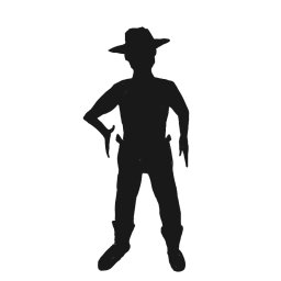 256x256 Shadow Clipart Cowboy Many Interesting Cliparts