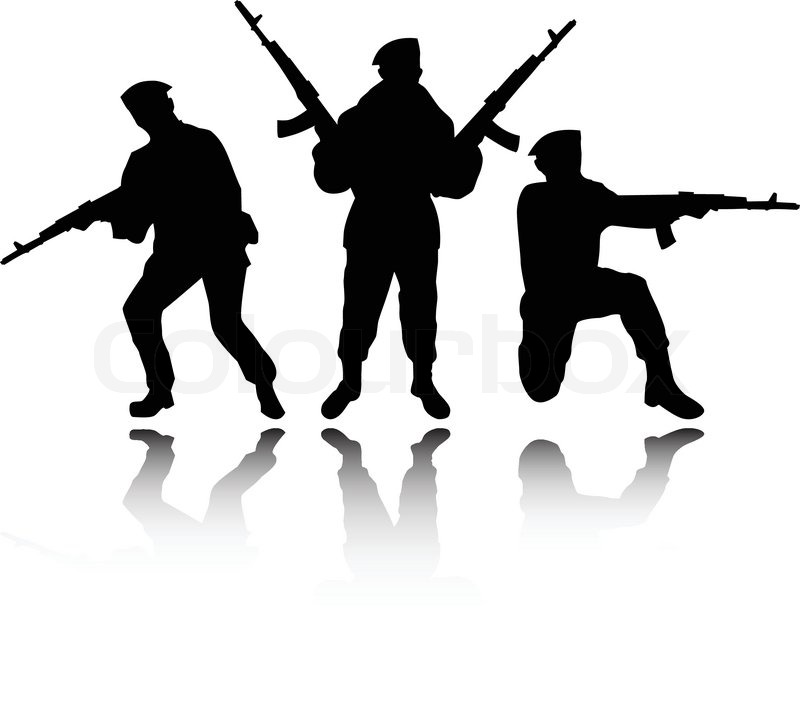 800x710 Soldiers Clipart Shadow