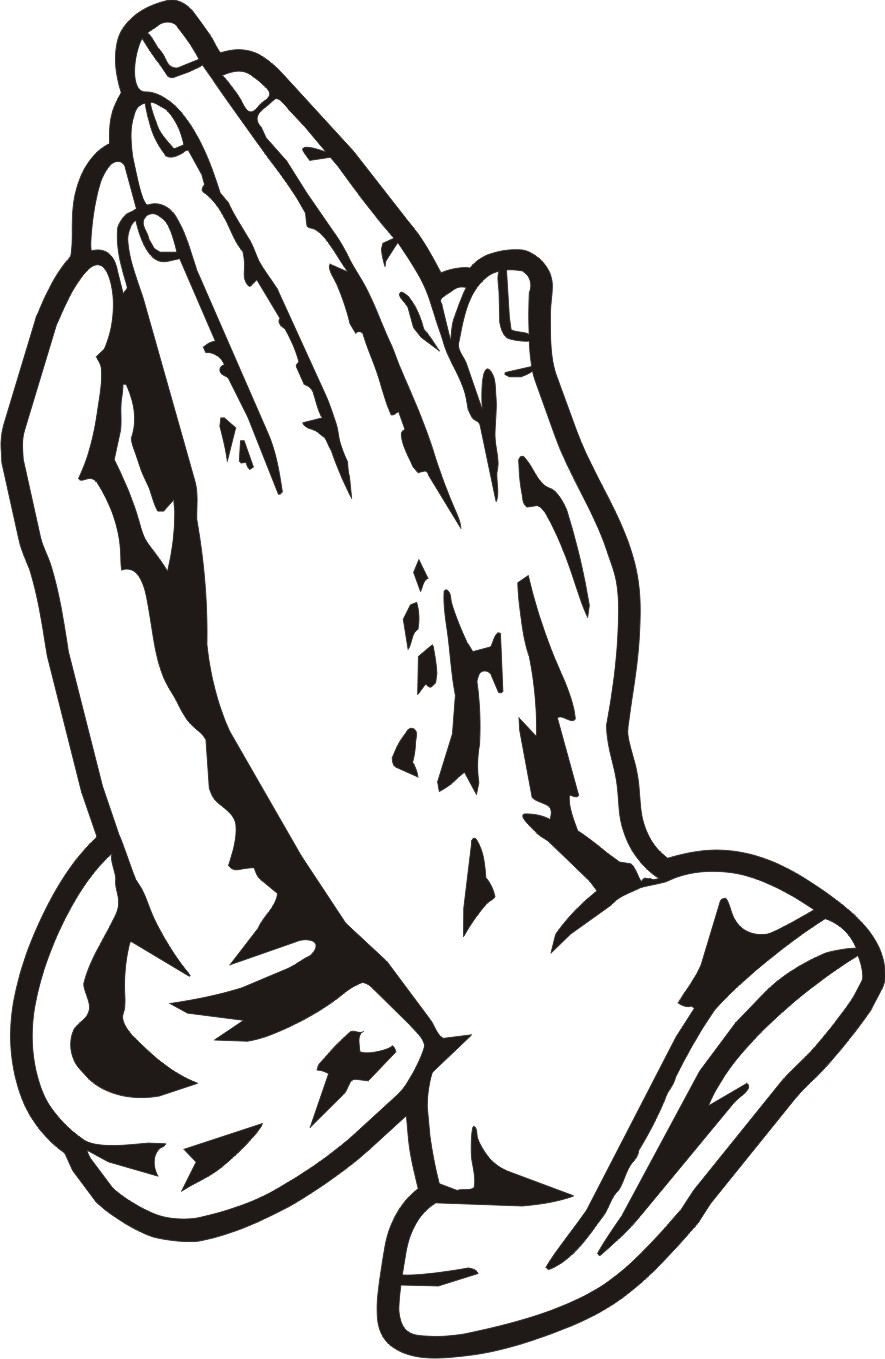 885x1359 Praying Hands Silhouette Clipart
