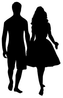 221x340 Man And Woman Silhouette Clip Art Couple Clipart Image