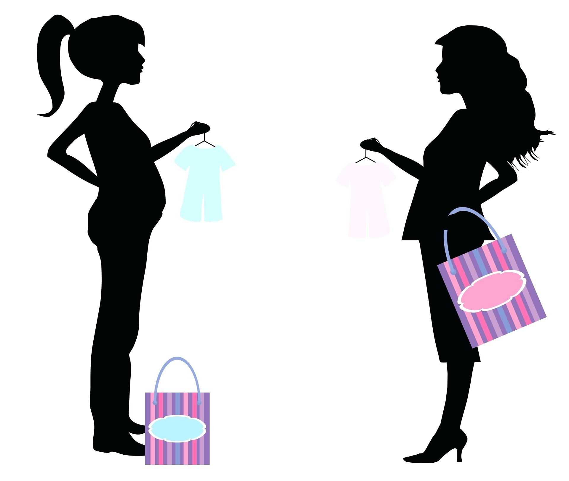 1920x1625 Template Pregnant Lady Silhouette Template