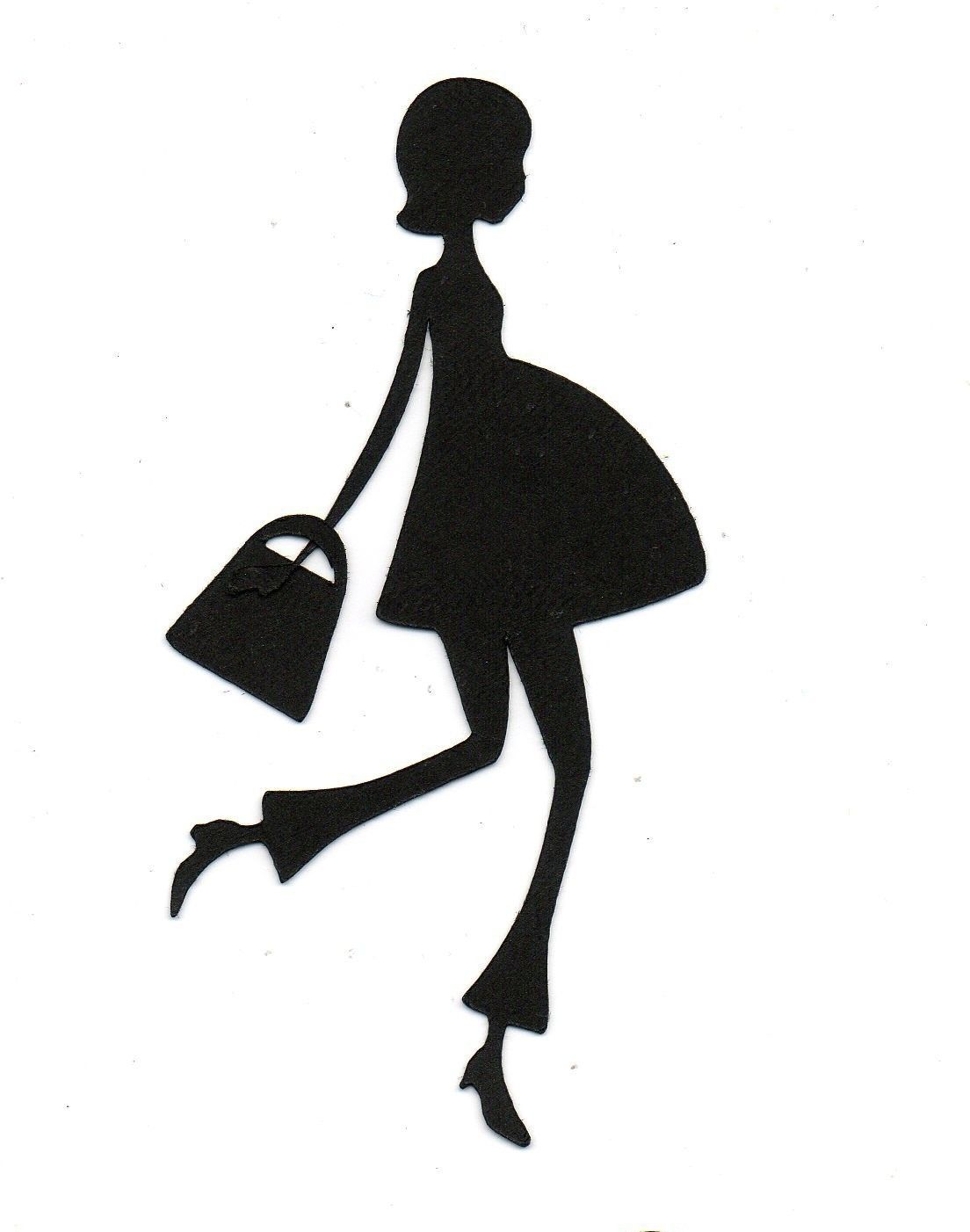 1104x1402 Expectant Mom Pregnant Silhouette Die Cut For Scrap Booking